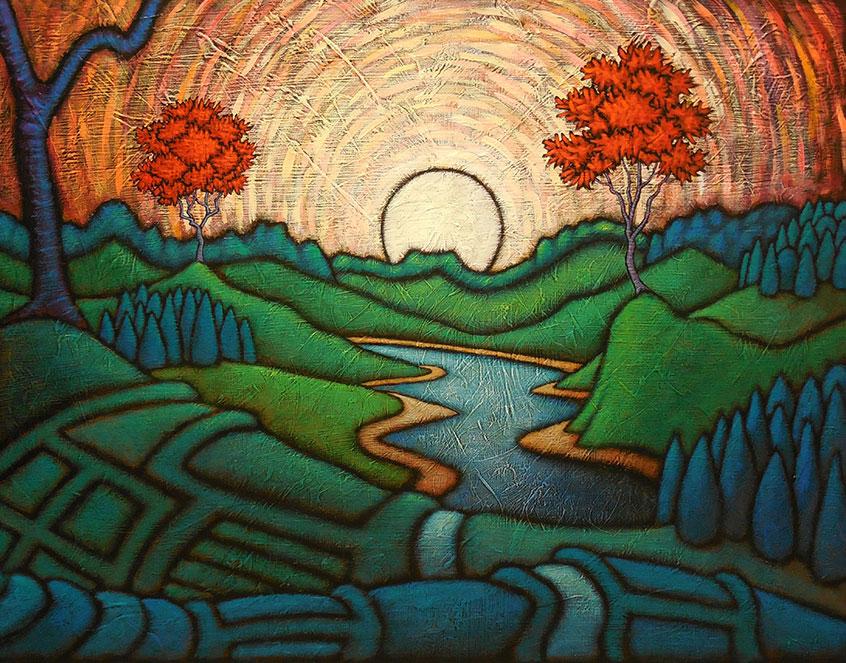 "MyersPartnersinPeace - 2021 GC Myers:<br>""Through the Trees"""