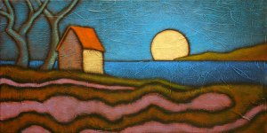 """GC Myers """"Pause in the Moonlight"""" 10x20 acrylic/canvas $ Inquire"""