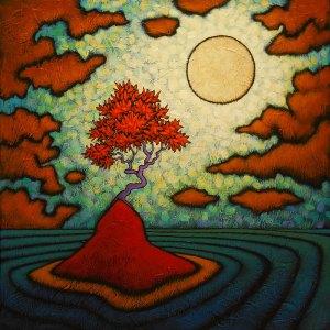 "GC Myers ""Pondering Solitude"" 24x24 acrylic/canvas $ Inquire"
