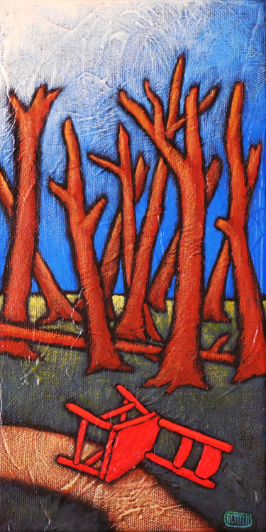 "GC Myers ""Reboot"" 12x6 acrylic/canvas SOLD"