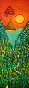 "GC Myers ""Rising Star"" 36x12 acrylic/canvas SOLD"