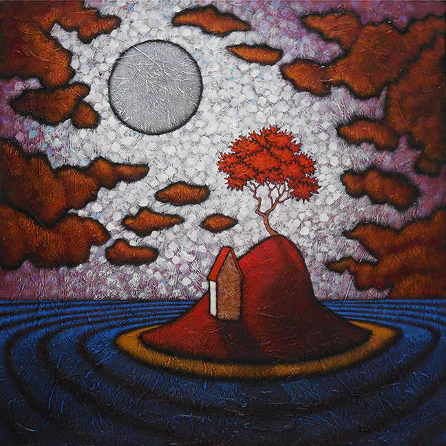 "GC Myers ""Solitude's Rapture"" 24x24 acrylic/canvas $ Inquire"