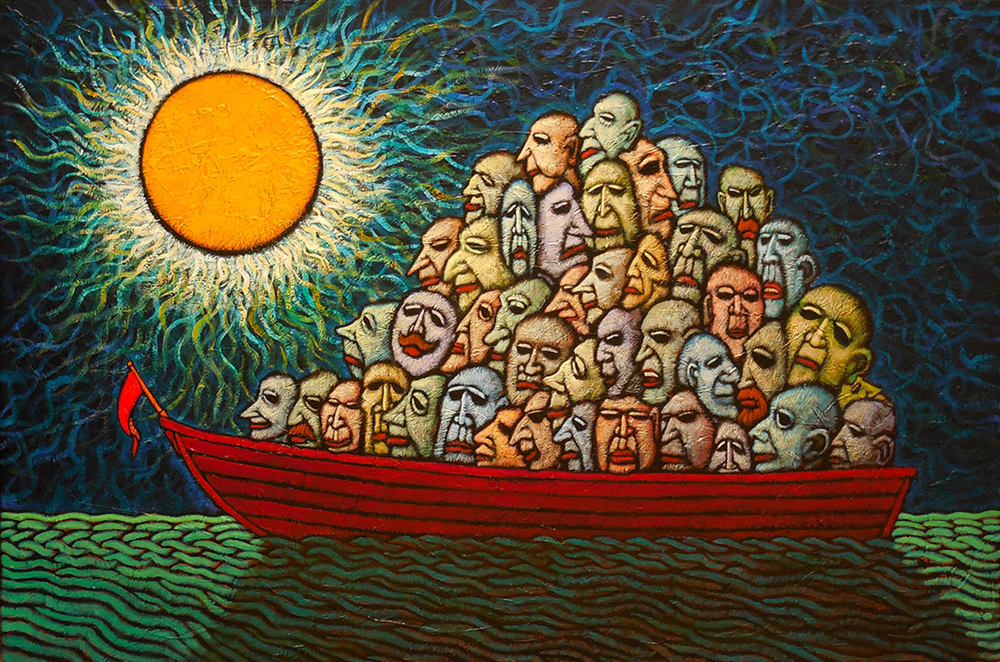 "GC Myers ""Souls Adrift"" 24x36 acrylic/canvas $ Inquire"