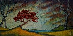 "GC Myers ""Stubborn One"" 8x16 acrylic/canvas SOLD"