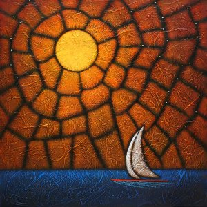 """GC Myers """"The Navigator"""" 24x24 acrylic/canvas $ Inquire"""