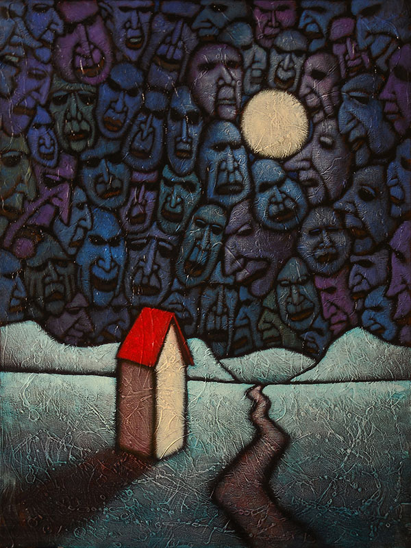 "GC Myers ""The Nightwatchers"" 24x18 acrylic/canvas $ Inquire"