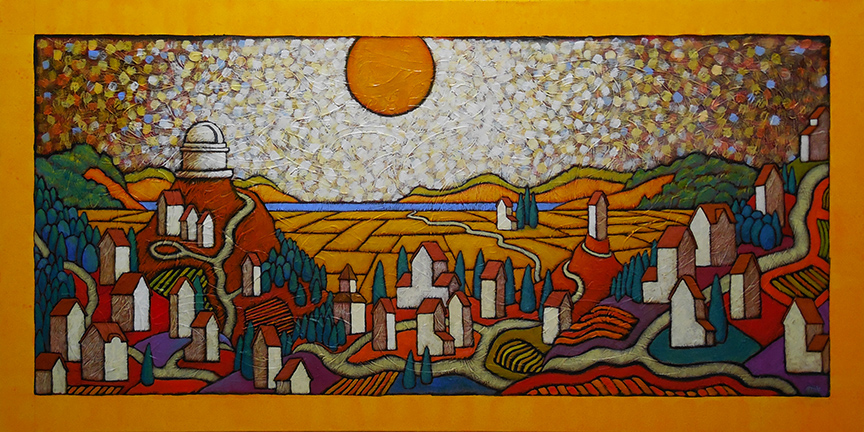 """GC Myers """"The Restless Edge"""" 23.5x47 acrylic Inquire on price, frame and border"""
