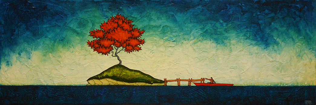 "GC Myers ""To Sanctuary"" 12x36 acrylic/canvas SOLD"
