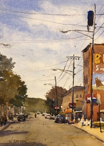"Terry Oakden ""Bull Durham"" 10x7 watercolor $200. unframed"