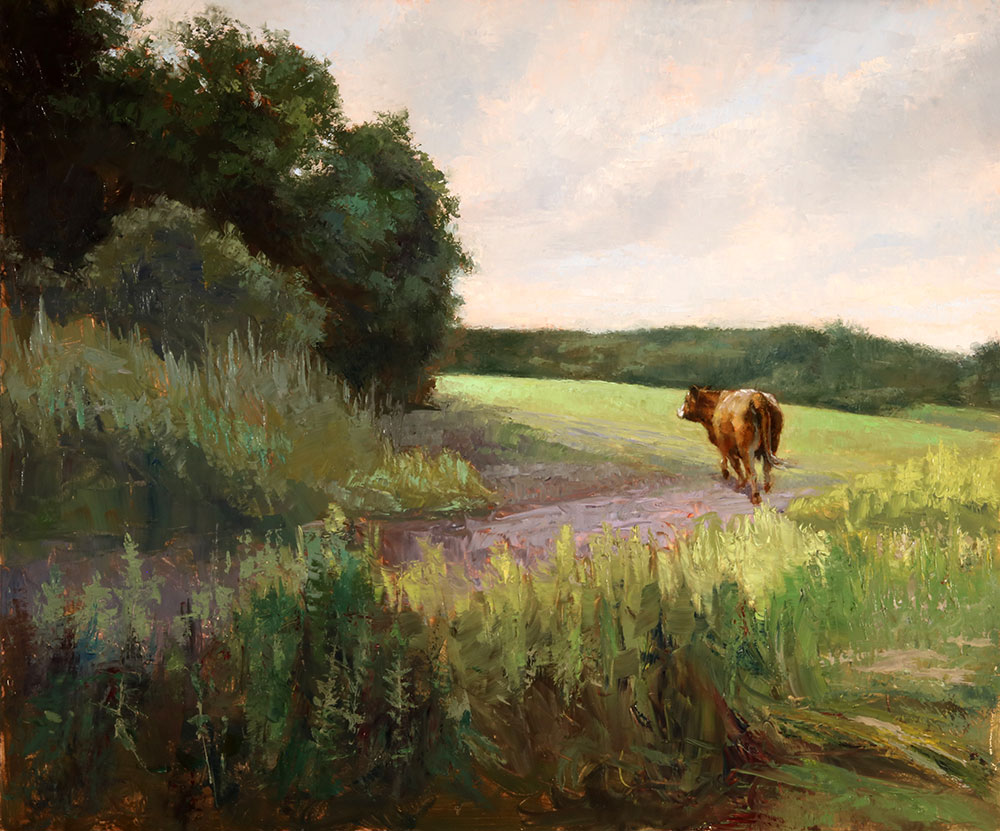 "Wilson Ong ""Greener Pasture"" 20x24 oil/board $2,250."
