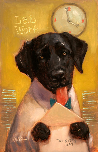 "Wilson Ong ""Lab Work"" 6x4 oil $200."