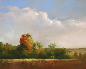 "Wilson Ong ""Day's End"" 16x20 oil $1,500."