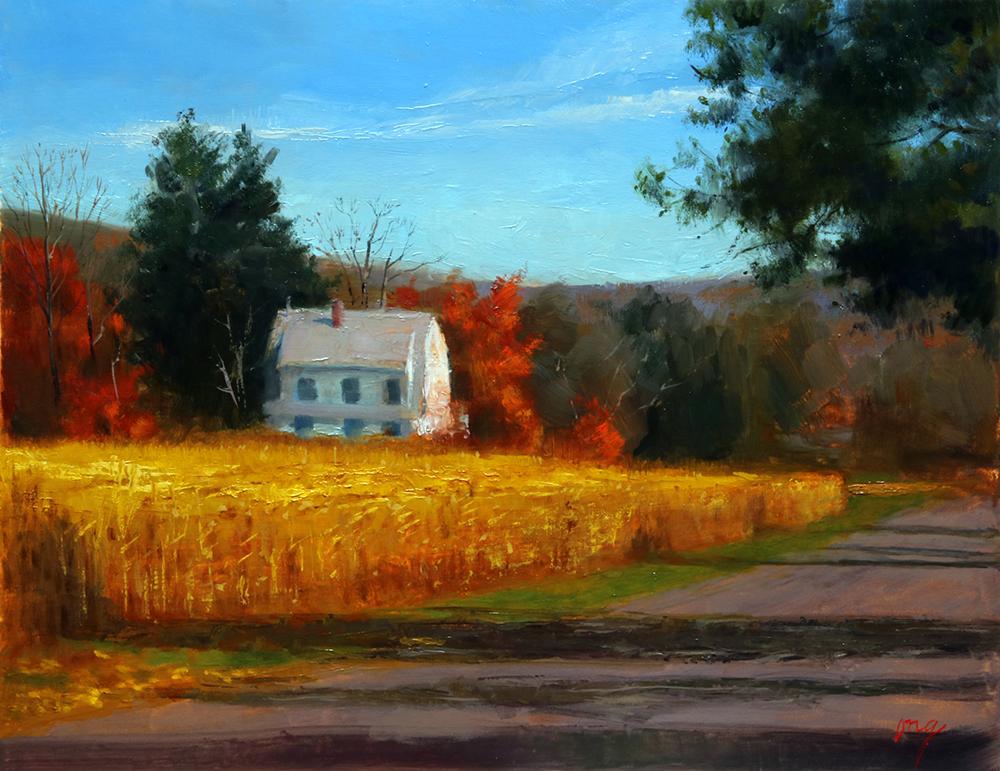 """Wilson Ong """"Golden Harvest"""" 11x14 oil $600."""