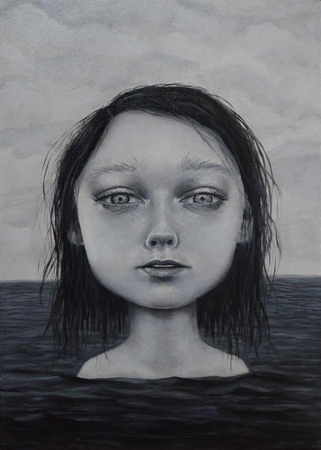 "Gina Pfleegor ""Washed Away"" 7x5 oil $280."