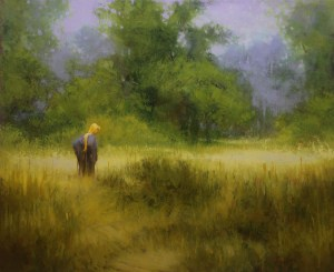 """Martin A. Poole """"Field - Day Dream"""" 18x22 oil $2,300."""