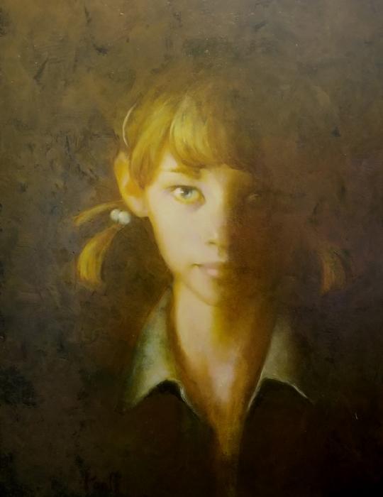 "Martin Poole ""Anna"" 14x11 oil $1,600."