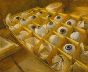 "Martin Poole ""Augen (Study)"" 8x10 oil $1150."