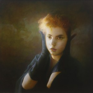 """PooleFigureLongGloves - """"Long Gloves"""" oil painting by Martin Poole"""