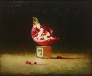 """Martin Poole """"P is for Persephone"""" 10x12 oil $1,500."""