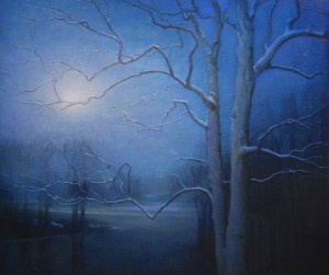 "Martin A. Poole ""Full Moon"" 30x36 oil $4,600."