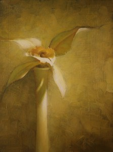 "Martin A. Poole ""Ivory Orchid"" 12x9 oil $1,100."