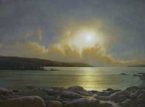 """Martin Poole """"Caught in the Clouds"""" 36x48 oil $6,100."""