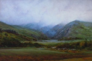 "Martin Poole ""Clouded Pass"" 24x36 oil $3,520."