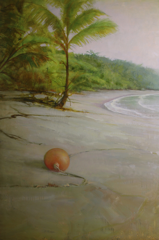 "Martin Poole ""Float"" 36x24 oil $3,520."