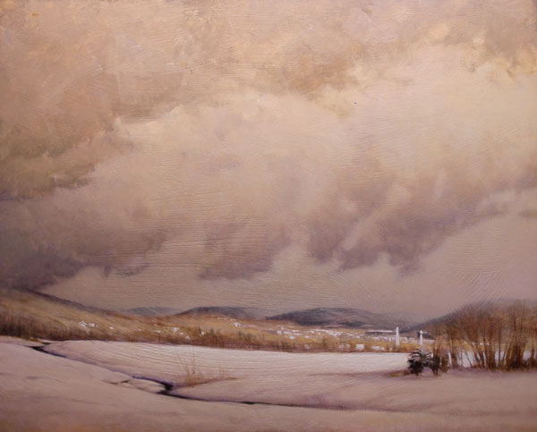 "Martin Poole ""Light Snow"" 24x30 oil $3,200."