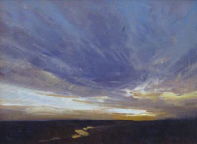 "Martin Poole ""Long View Study II"" 9x12 oil $1,300."