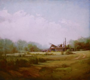 "Martin Poole ""Last Mintz Barn - Mintz Barn Remnants"" 16x18 oil $2,090"