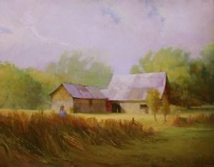 "Martin Poole ""Stirpe's Barn"" 14x18 oil $1,850."