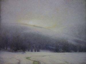 "Martin Poole ""Winter Light"" 36x48 oil $6,100."