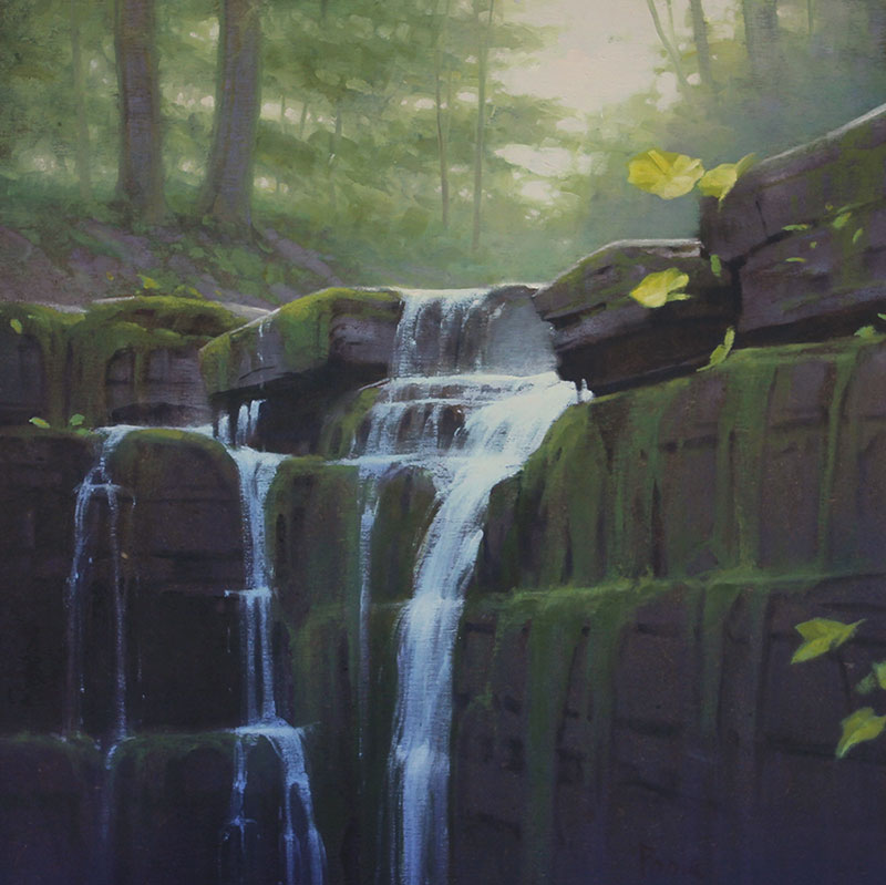 "Martin A. Poole ""Little Falls"" 24x24 oil $2,640."