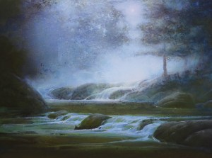 "Martin A. Poole ""Moonlit"" 18x24 oil $2,350. Unframed (Inquire)"