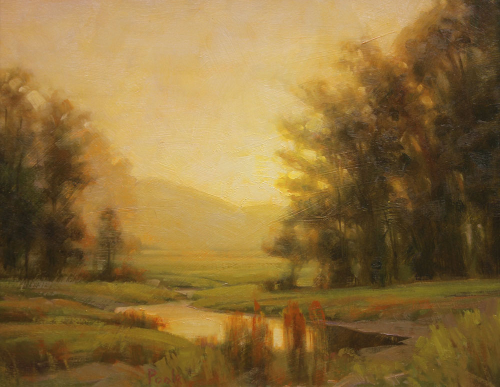 "Martin A. Poole ""Spring Morning"" 12x15 oil $1,650."