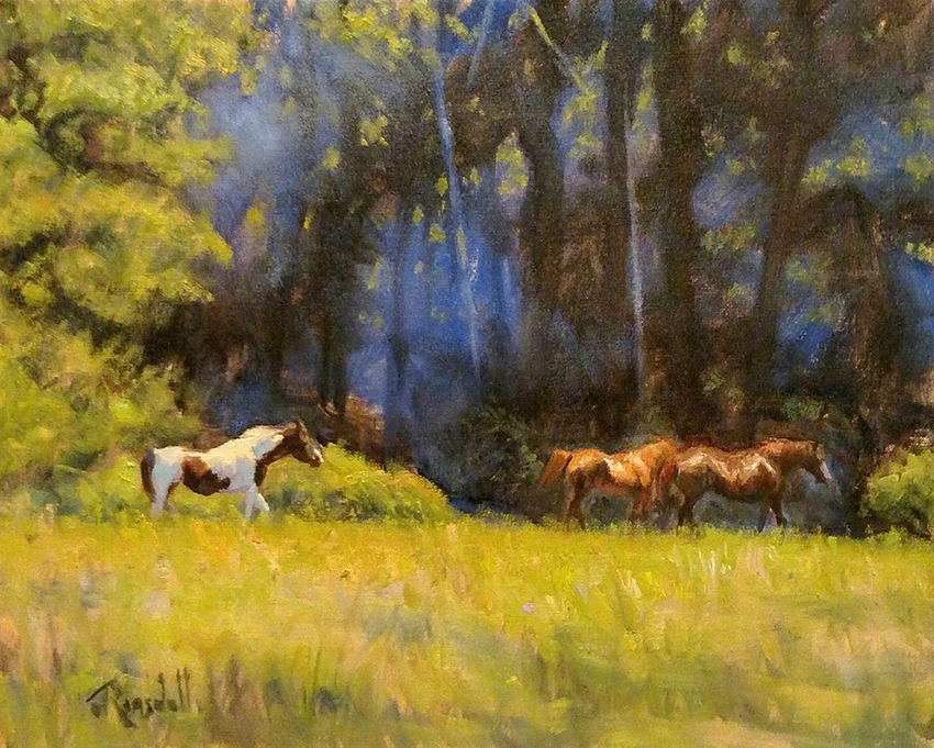 """James Ramsdell """"Left Behind"""" 16x20 oil $1,100."""