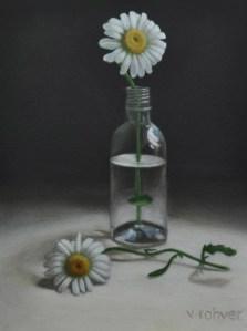 """Valorie Rohver """"June Daisies"""" 8x6 oil $295."""