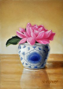 "Valorie Rohver ""Little Pink"" 7x5 oil $275."