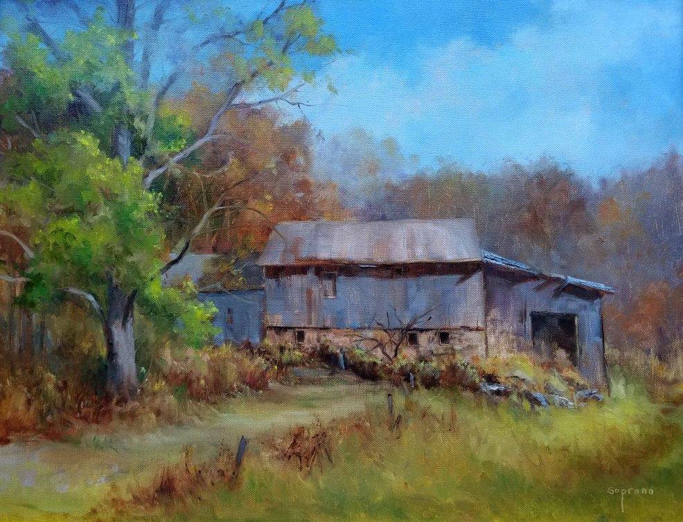 "Judy Soprano ""Autumn Colors"" 16x20 oil $800."