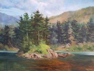 "Judy Soprano ""Near Franklin Falls"" 24x30 oil $1,400."