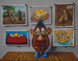 """Andrew Wales """"The Commentator"""" 16x20 acrylic/gallery wrapped canvas $650."""