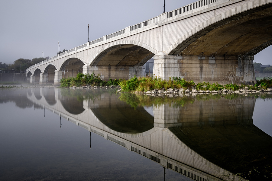 "Chris Walters ""Centerway Bridge Reflection"" Inquire for availability and additional ordering options"