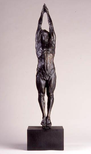 "Gary Weisman ""Marsyas"" 27.75"" x 4.5"" x 5"" bronze $6,000."