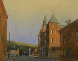 "Chris Baker ""Rockwell Museum"" 16x20 gouache $665"