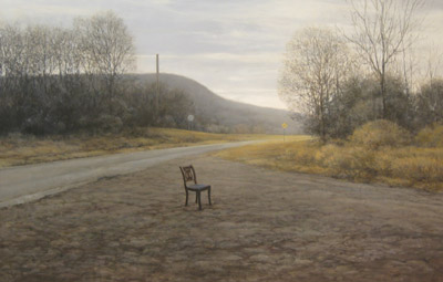 David Higgins - Landscape with Chair 25x38 oil $4,000