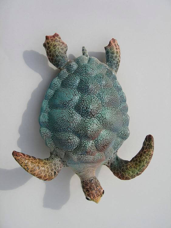 "Alan and Rosemary Bennett ""Green Turtle"" fish glaze"