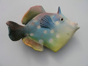 "Alan and Rosemary Bennett ""Spotted Filefish"" fish glaze"