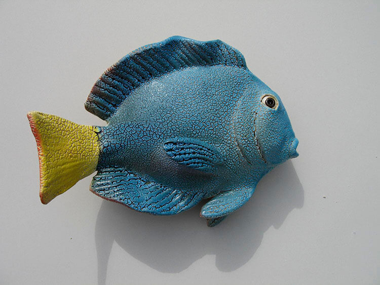 "Alan and Rosemary Bennett ""Juvenile Tang"" fish glaze"