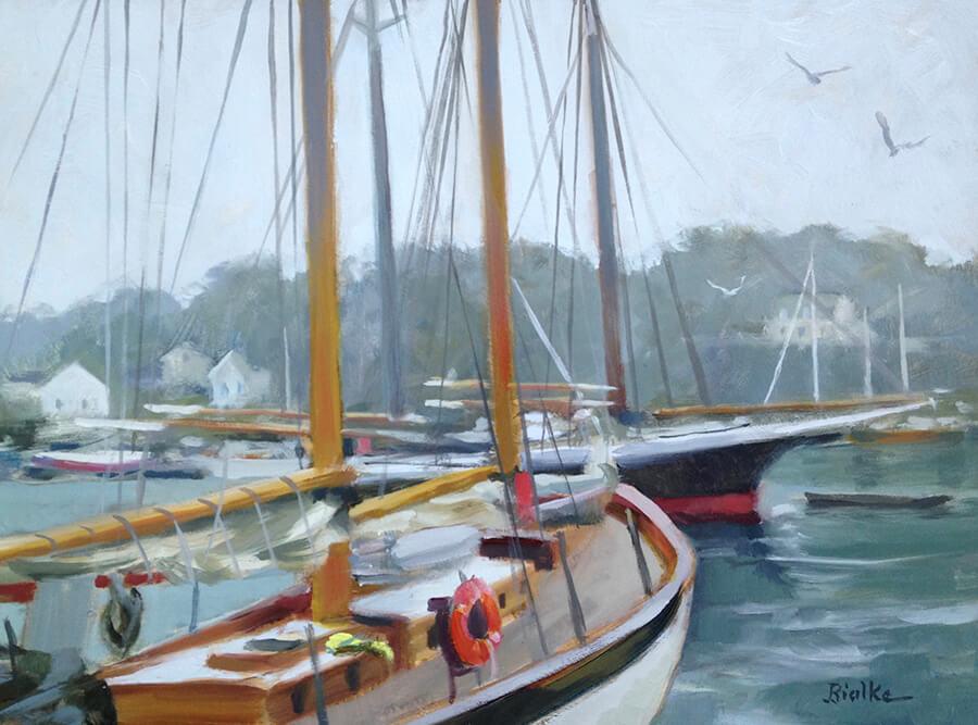 "Anne Bialke ""Camden Mist"" 9x12 oil $465."
